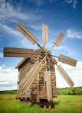 Vecchi mulini a vento Fotografia Stock