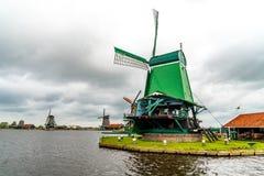 Vecchi mulini a vento storici Fotografia Stock Libera da Diritti