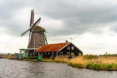 Vecchi mulini a vento storici Fotografia Stock