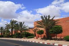 Vecchi mura di cinta di Marrakesh Immagine Stock Libera da Diritti
