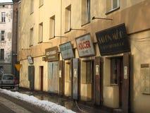Vecchi negozi ebrei, Cracovia fotografia stock libera da diritti