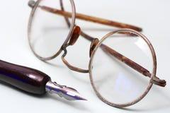 Vecchi occhiali fotografie stock