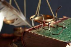 Vecchi occhiali Fotografie Stock Libere da Diritti