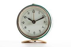 Vecchi orologi d'annata su fondo bianco isolato Fotografie Stock
