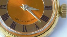 Vecchi orologi Lasso di tempo video d archivio