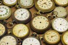 Vecchi orologi tagliati Fotografia Stock Libera da Diritti