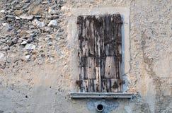 Vecchi otturatori di legno Immagini Stock