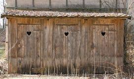 Vecchi outhouses immagine stock libera da diritti