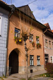 Vecchi palazzi della città di Levoca Immagini Stock Libere da Diritti