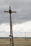 Vecchi pali di telegrafo Fotografia Stock Libera da Diritti