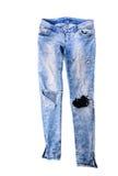 Vecchi pantaloni dei jeans immagine stock