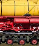 Vecchi particolari della locomotiva di vapore Fotografie Stock Libere da Diritti