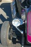 Vecchi particolari della parte anteriore dell'automobile Immagine Stock Libera da Diritti