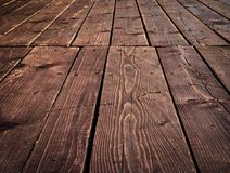 Vecchi pavimenti di legno con i bordi Fotografia Stock Libera da Diritti