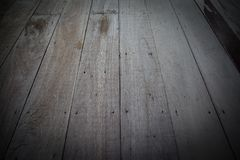 Vecchi pavimenti di legno, per struttura e fondo Fotografia Stock