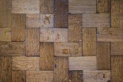 Vecchi pavimenti scuri della quercia Immagini Stock Libere da Diritti