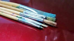 Vecchi pennelli Fotografia Stock
