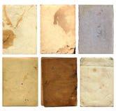 Vecchi pezzi 3 della carta di lerciume Immagini Stock Libere da Diritti