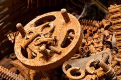 Vecchi pezzi meccanici Immagine Stock