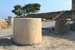 Vecchi piedistalli di pietra Fotografia Stock Libera da Diritti