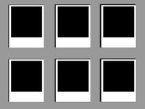 Vecchi polaroids della foto Fotografia Stock