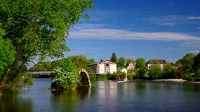 Vecchi ponte del sussidio e fiume romani il Doubs video d archivio