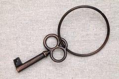 Vecchi portachiavi a anello Fotografie Stock Libere da Diritti