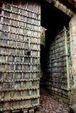 vecchi portelli del castello Immagine Stock
