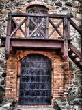 vecchi portelli del castello Fotografie Stock