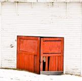 Vecchi portelli del garage Fotografia Stock Libera da Diritti