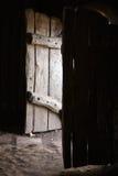 Vecchi portelli di legno Immagini Stock