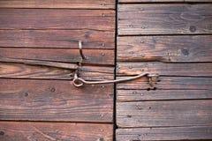 Vecchi portelli di legno fotografie stock