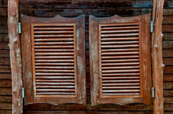 Vecchi portelli di legno d'oscillazione occidentali del salone Immagini Stock Libere da Diritti