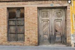 Vecchi portello e finestra Immagine Stock