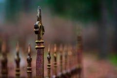 vecchi portoni del cimitero in autunno fotografia stock
