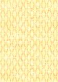 Vecchi priorità bassa/colore giallo decorati della carta da parati Fotografie Stock