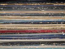 Vecchi record Immagini Stock