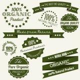 Vecchi retro elementi dell'annata di vettore per organico Immagini Stock Libere da Diritti