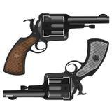 Vecchi revolver, illustrazione Immagine Stock