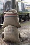 Vecchi sacchetti postali Fotografia Stock Libera da Diritti