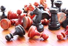Vecchi scacchi Fotografia Stock