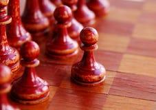 Vecchi scacchi Fotografie Stock Libere da Diritti
