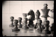 Vecchi scacchi fotografie stock