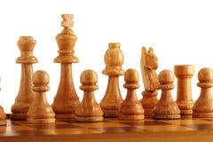 Vecchi scacchi di legno Fotografie Stock Libere da Diritti
