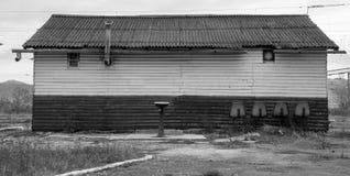 Vecchi sedili della stazione ferroviaria Fotografie Stock