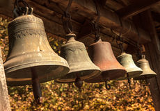 Vecchi segnalatori acustici di chiesa Immagini Stock Libere da Diritti