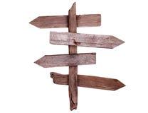 Vecchi segnali di direzione di legno Fotografie Stock