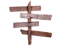 Vecchi segni di legno Fotografia Stock