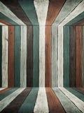 Vecchi soffitto e pavimento di legno della parete di tono blu Fotografie Stock Libere da Diritti