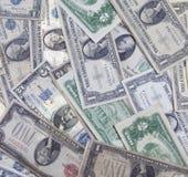 Vecchi soldi degli Stati Uniti Fotografia Stock